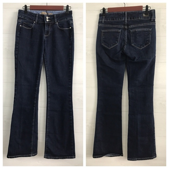 2d56ac1a805bd4 PAIGE Jeans | Hidden Hills Dark Blue Wash Boot Cut | Poshmark